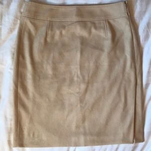 Boss camel wool blend linedskirt with side vent